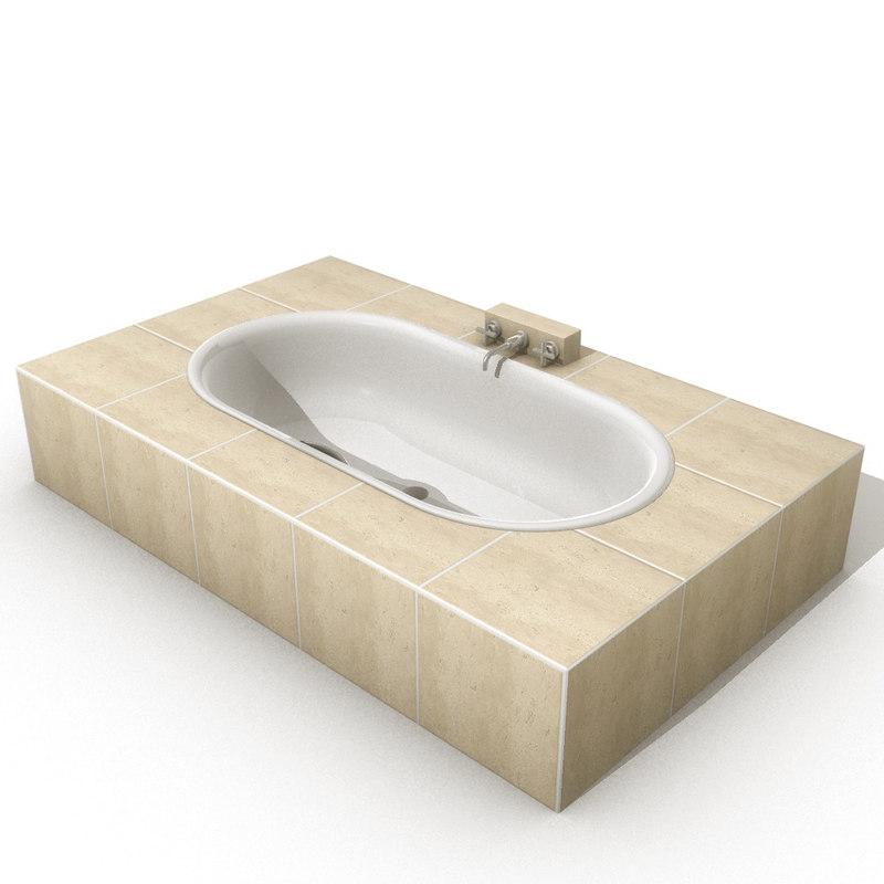 3d model tub bathroom