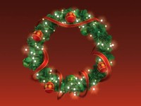 3d model christmas wreath