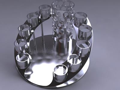 3d cocktail serving set holder model