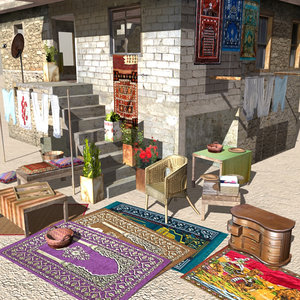 arab household elements 3d model
