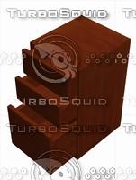 3d model wood file cabinet