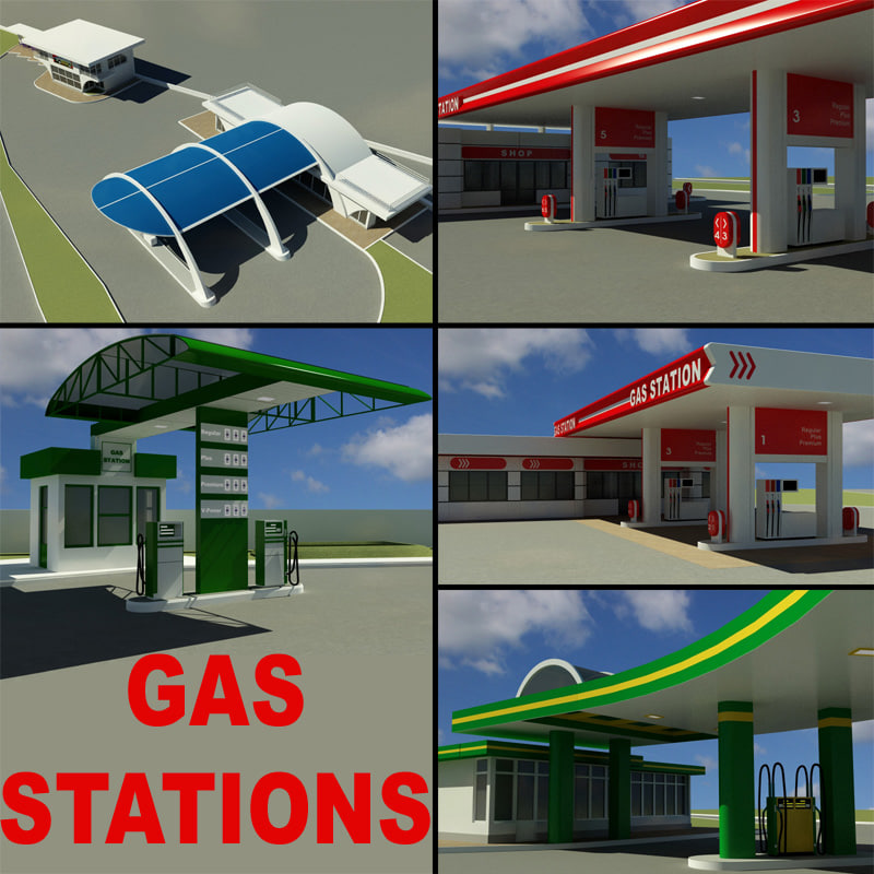 3ds max gas stations