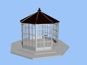 gazebo pavilion 3d max