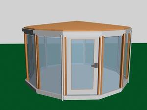 3d gazebo pavilion model
