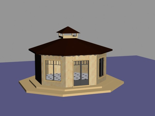 3d model of gazebo pavilion