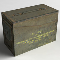 3d model grenade box