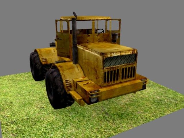 kirovets bulldozer 3d model