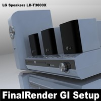 lg speakers lh-t3600x 3d model