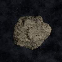 Low Polygon Asteroid