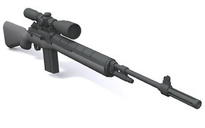 3d model m14 m21 rifle -