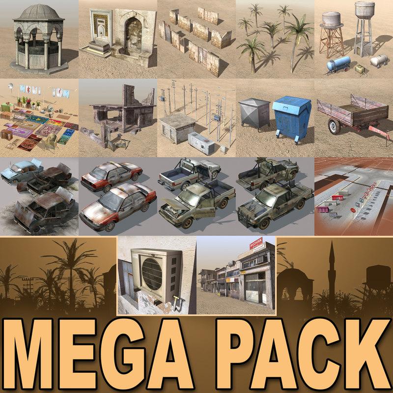 3dsmax arab mega collections city