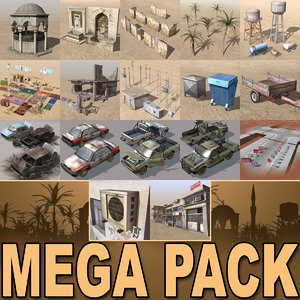 3dsmax arab mega collections city