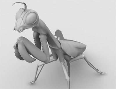 obj praying mantis