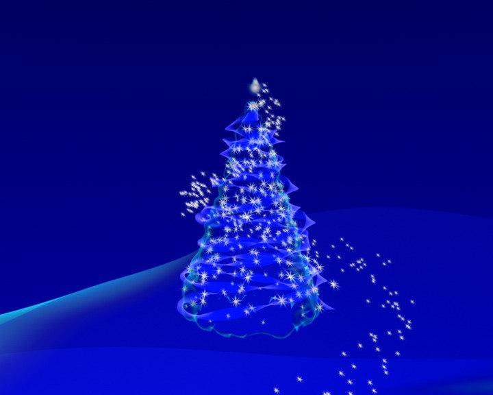 maya pine tree stars particles