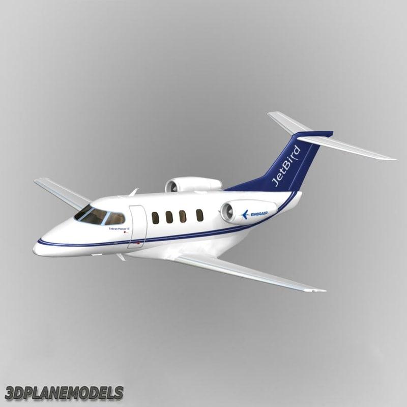 3d embraer phenom 100 jetbird model