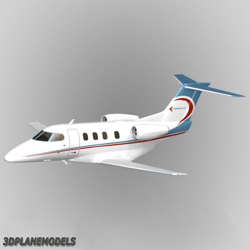 3d embraer phenom 100 private