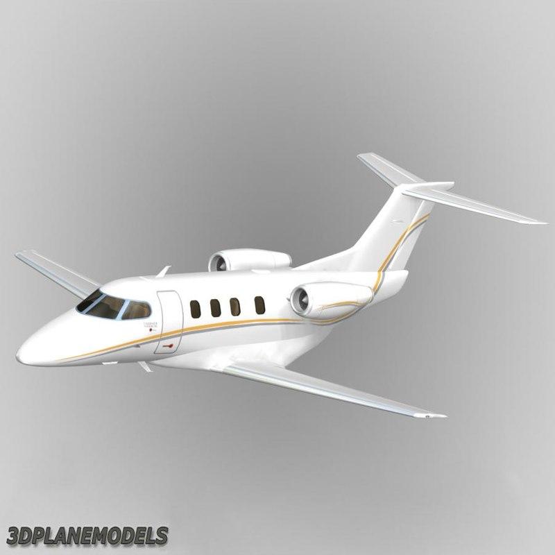 embraer phenom 100 private 3d model