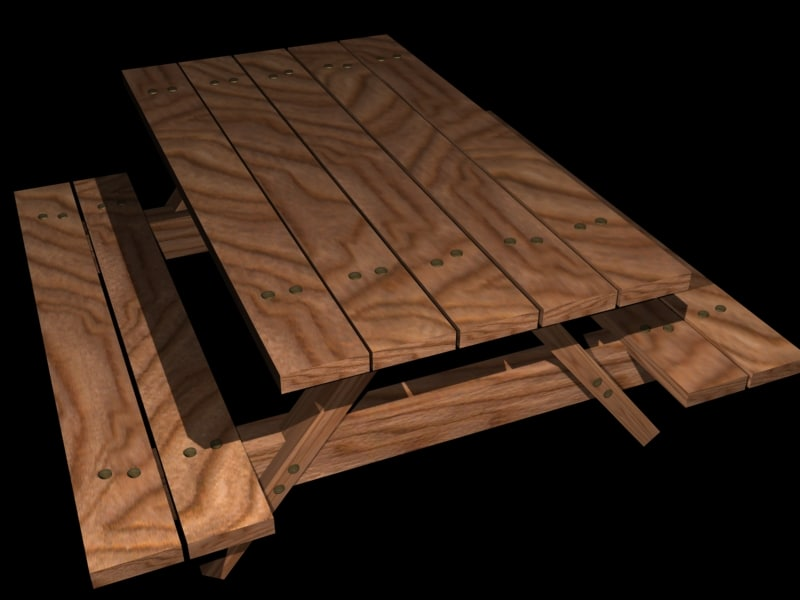 table animation 3d max