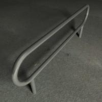3d c4d steel railing