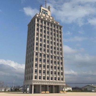 3ds office skyscraper building