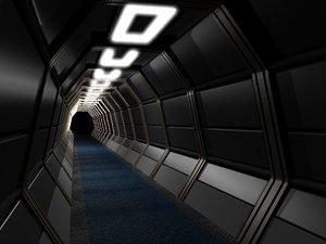spaceship space station 3d lwo
