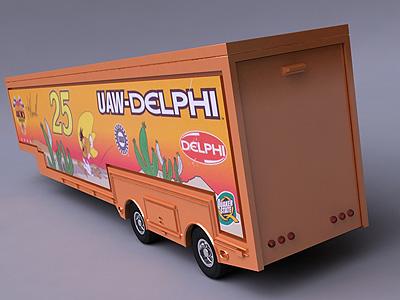 3d model nascar tractor hauler delphi