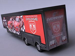 3d model nascar tractor hauler evernham