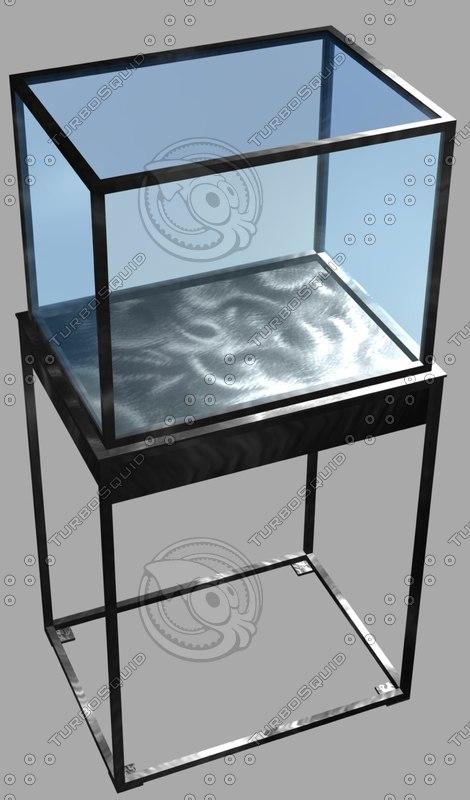 3d steel display case retail model
