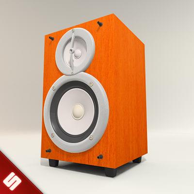 wood box speaker 3d 3ds