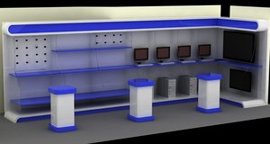 computer retail mall 3d model