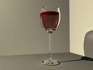 wine glass 3d ma