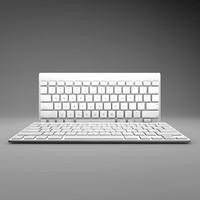 apple wireless keyboard keys 3d model