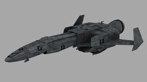 achilles dropship battletech 3d model