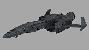 achilles dropship battletech 3d model
