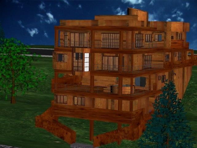 house building 3d max