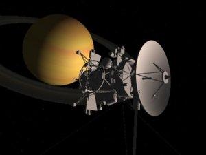 3d model cassini space probe
