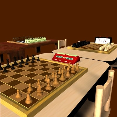 chess club chessclubs 3d obj