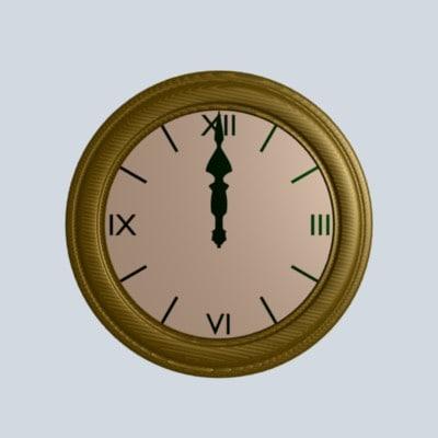 3d clock time model
