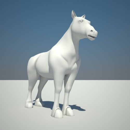 3d clydesdale horse
