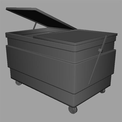 maya trash bin dumpster