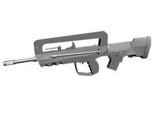 3ds max famas fusil assault