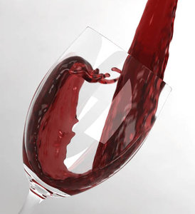 3d model wine pouring glass