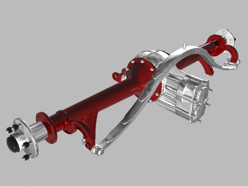 3ds max halibrand quick-change differential rear axle