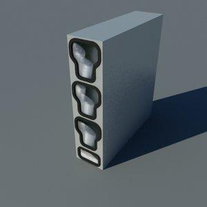 3d lid dispenser model