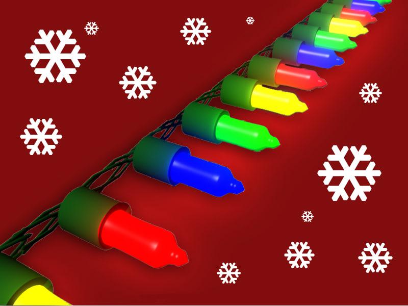 christmas lights 3d ma