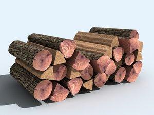 3d model firewood wood