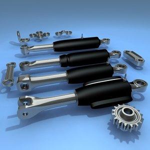 3d model of robotic parts