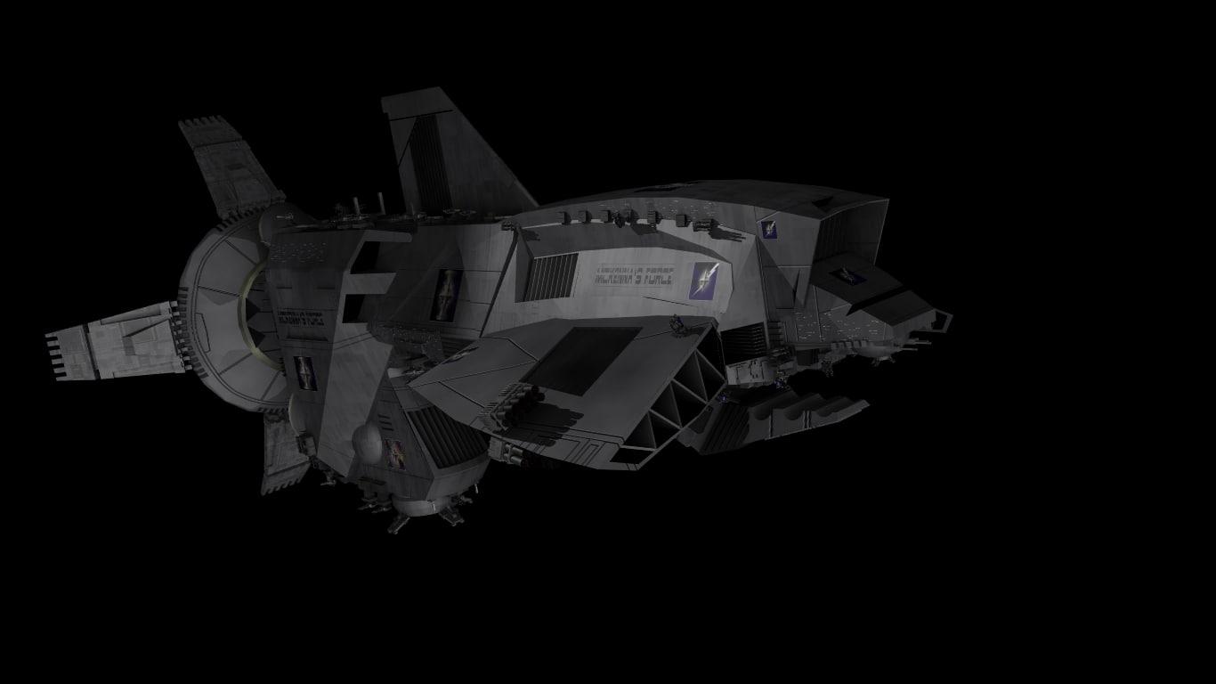 mckenna class warship 3d model