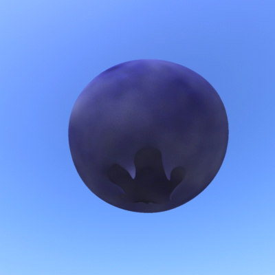 blueberry berry 3d model