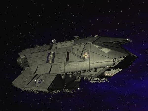 warship cruiser 3d model